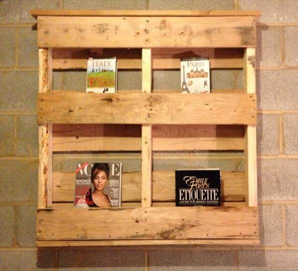 Wood Pallet Bookshelf Ideas | 99 Pallets
