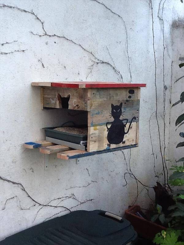 1 Euro Diy Pallet Cat House 99 Pallets