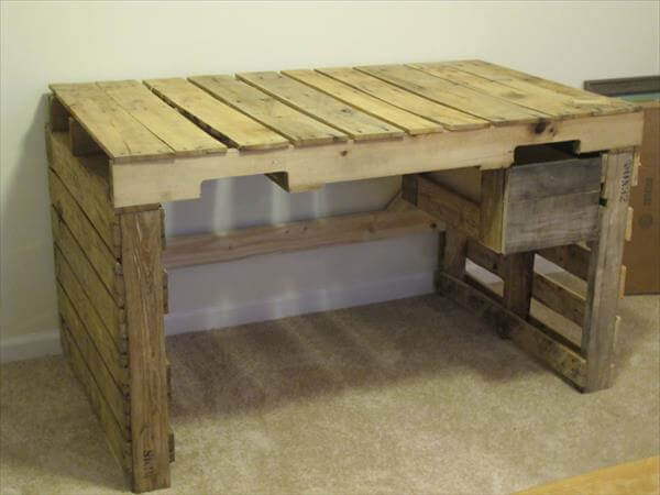 DIY Pallet Desk With Drawers 99 Pallets