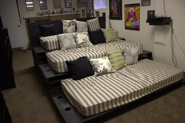 recycled pallet home theater