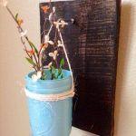DIY Pallet Mason Jar Vase