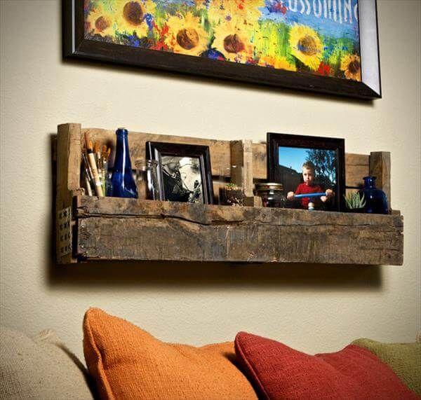 diy pallet living room shelf