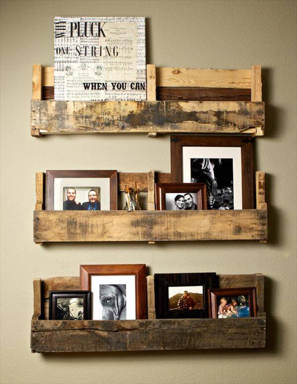 pallet picture rack