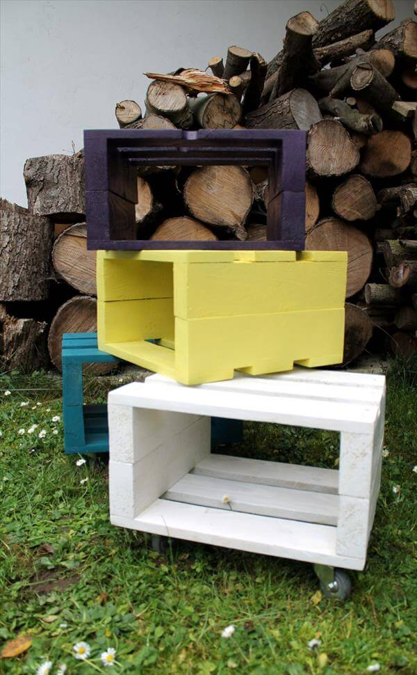 Stool Designs From Pallets