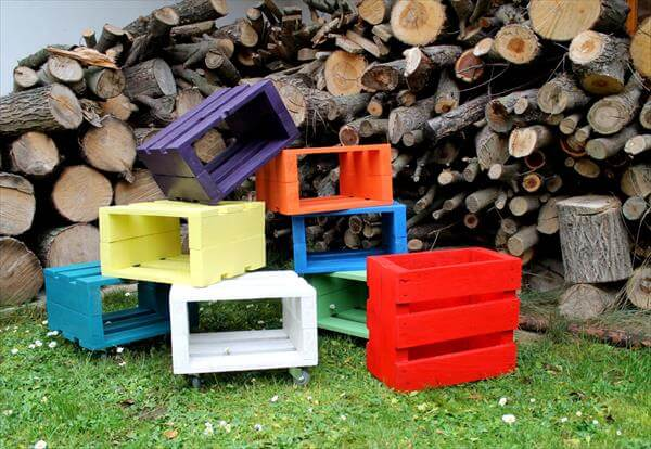 Upcycled Pallet stools