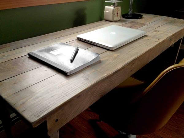 Diy Pallet Study Table 99 Pallets