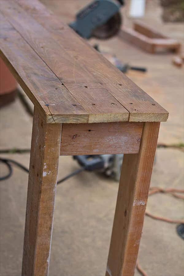 Sofa Table Made From Pallets | 99 Pallets
