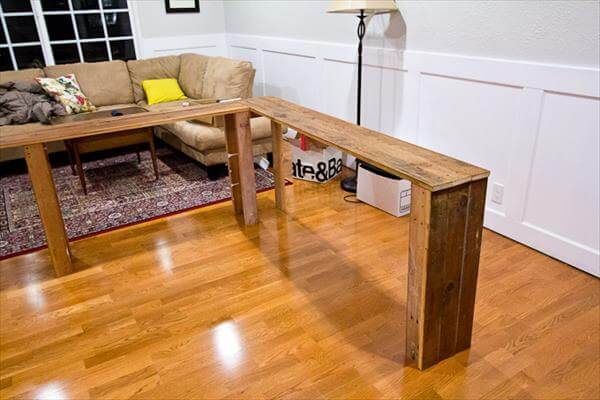 Sofa Table Made From Pallets : 99 Pallets