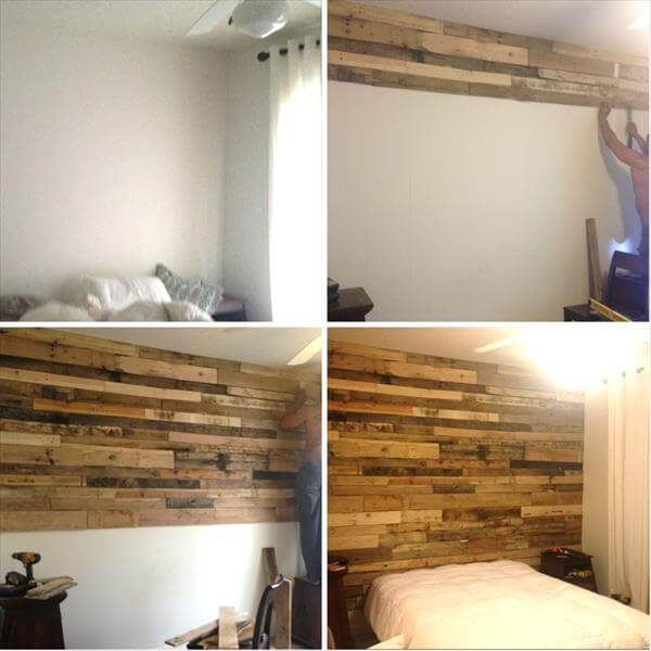 recycled pallet wall makeover