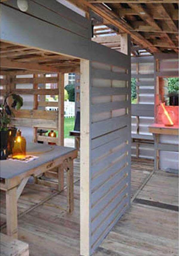 diy pallet house inner look