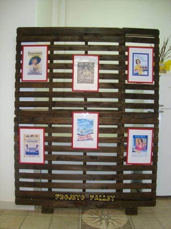 recycled pallet room dividing wall