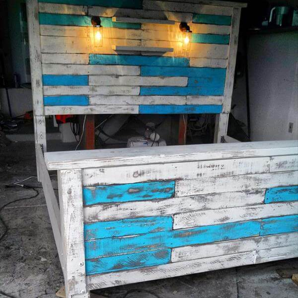 5 diy beds made from wooden pallets 99 pallets