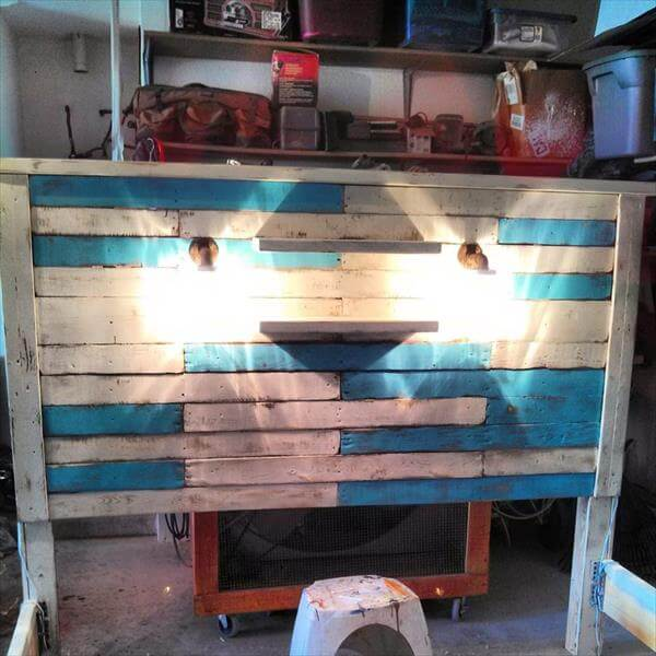 reprocessed pallet bed frame