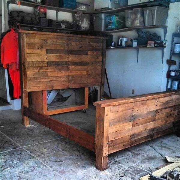 reestablished pallet bed frame