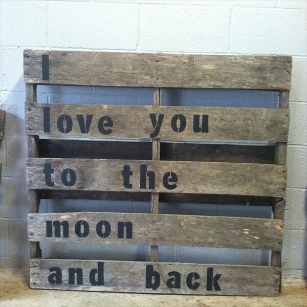 Wall Art With Pallets: 10 DIY Wood Pallet Wall Art Ideas