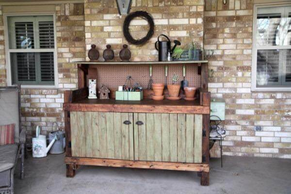 repurposed pallet bench makeover