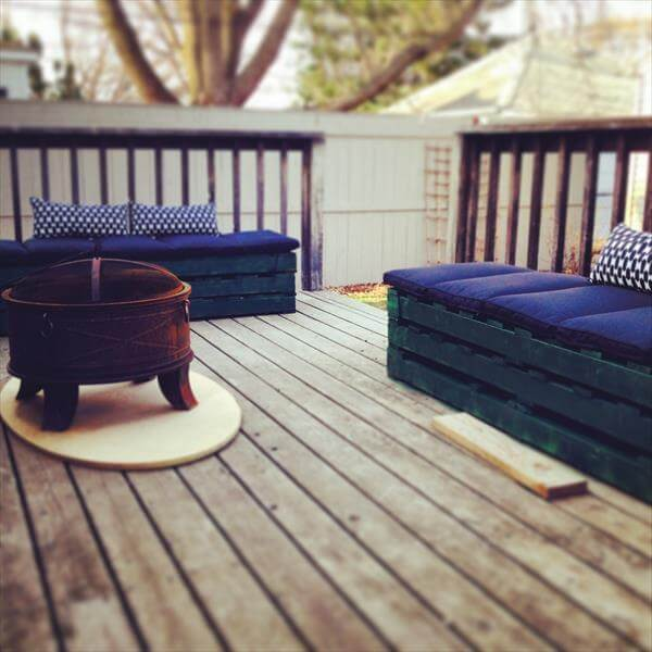 DIY Pallet Benches