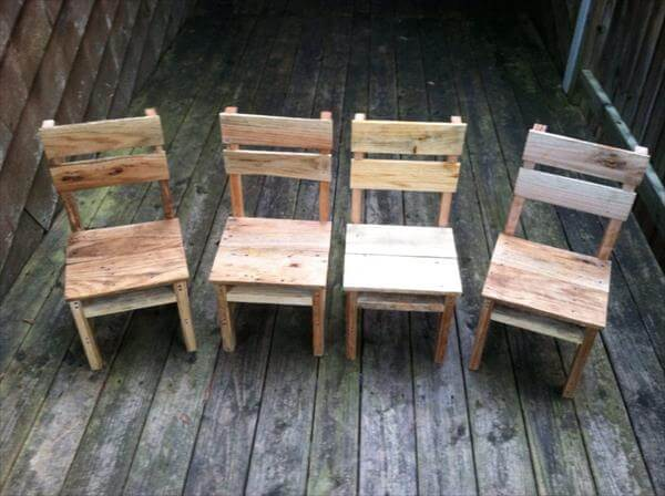 DIY Rustic Pallet Table And Chairs 99 Pallets