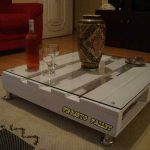 DIY Pallet Coffee Table in White Color