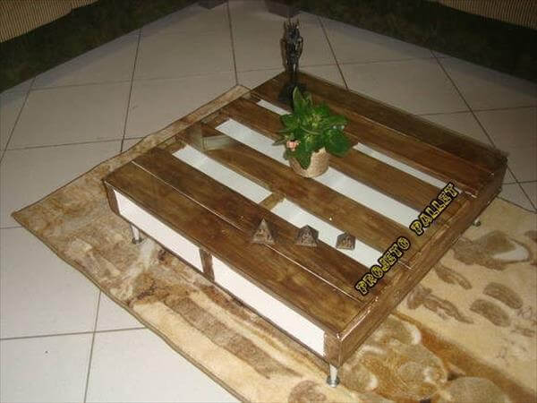 Diy Pallet Glass Top Coffee Table 99 Pallets
