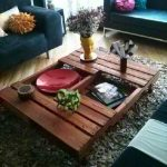 DIY Wood Pallets Coffee Table with Caster