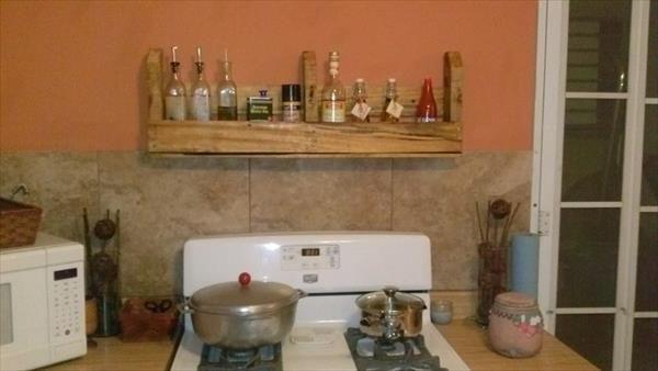 DIY Pallet Shelf for Kitchen and Bathroom | 99 Pallets