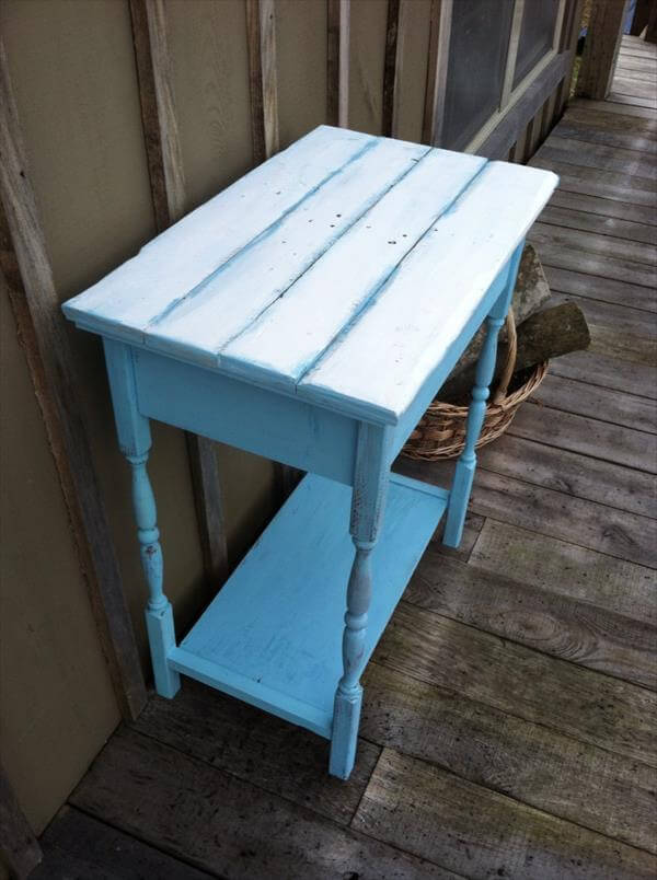 Diy beautiful pallet kitchen table 99 pallets for Pallet kitchen bench