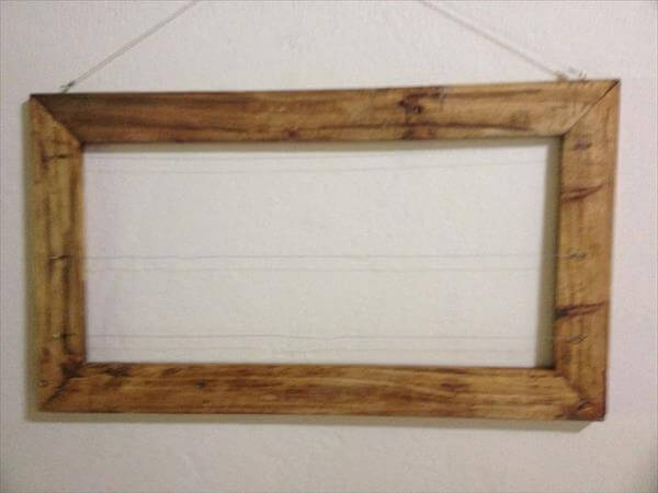 regained pallet wooden picture frame