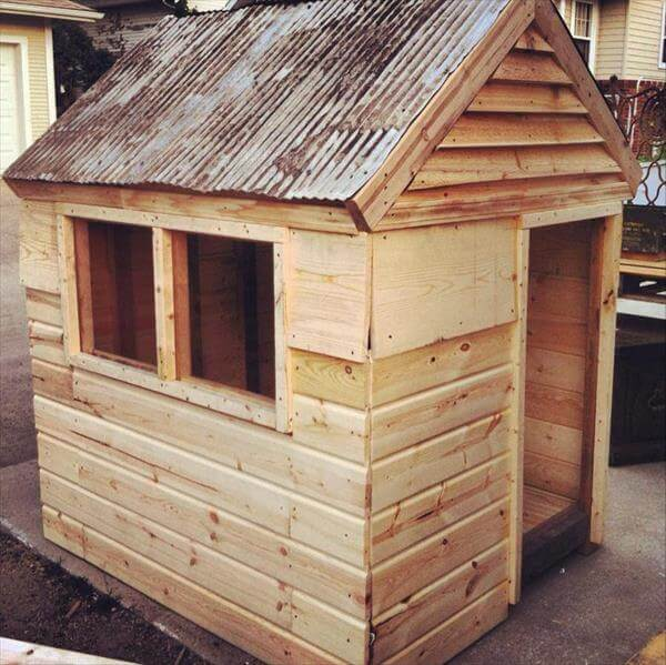 pallet playhouse building plans