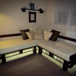 DIY Pallet Sectional Sofa with Lights
