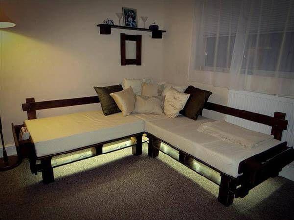 reclaimed pallet sofa frame