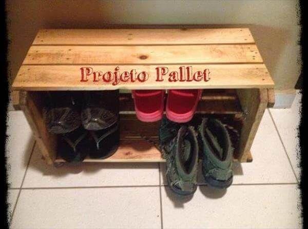 Pallet Shoe Storage