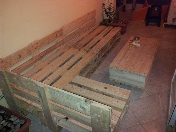 repurposed pallet sectional sofa