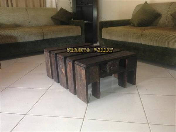 upcycled pallet wooden table