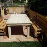 DIY Pallet Wood Table and Chairs