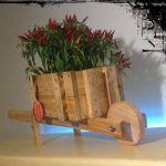 DIY Pallet Wheel Barrow Planter