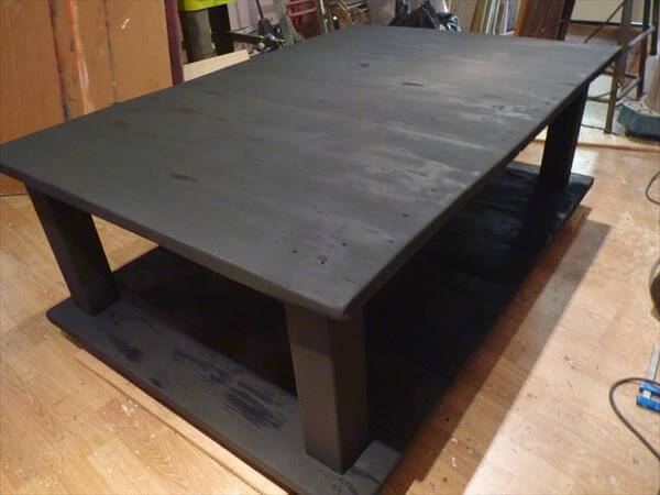 How to make your own wood coffee table 99 pallets Black wooden coffee tables