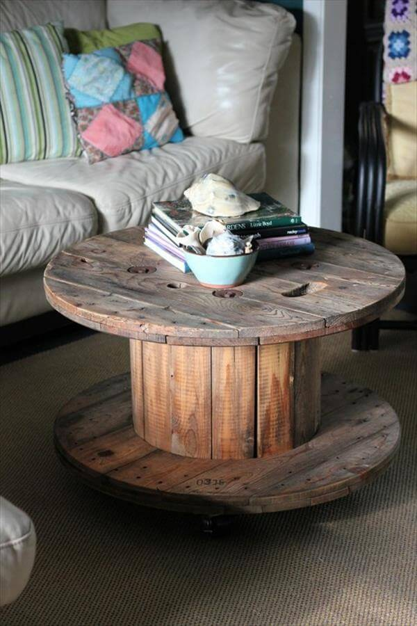 diy wire roll sofa table