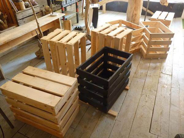 Diy wood crate storage shelves for How to make apple crates