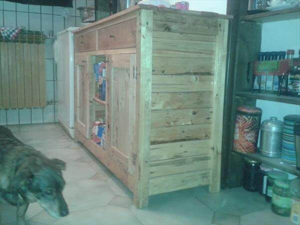Kitchen Cabinets From Pallets diy pallet kitchen cabinet | 99 pallets