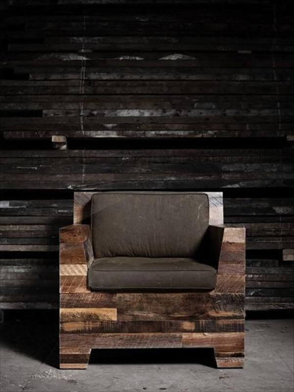upcycled pallet chair idea