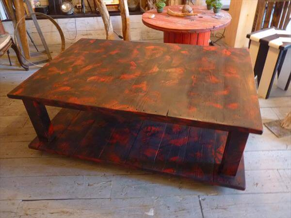 reestablished pallet coffee table
