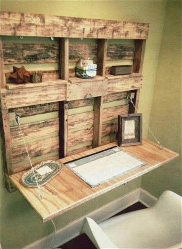 DIY Easy Wooden Pallet Desk Ideas | 99 Pallets