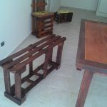 Pallet Sitting Bench and Chair
