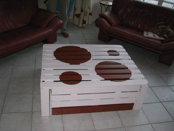 reclaimed pallet coffee table and chairs