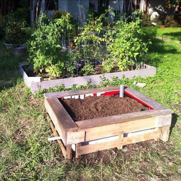 recycled garden bed