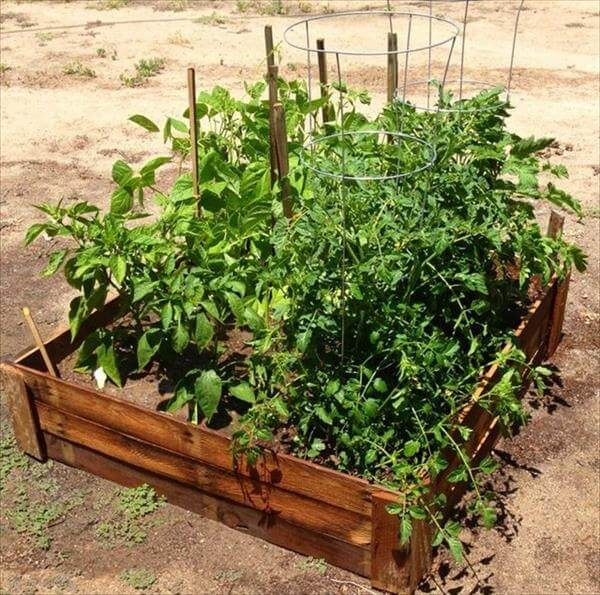 repurposed pallet garden bed