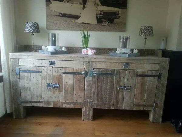 Design your own pallet wood kitchen cabinets pallets designs for Kitchen units made from pallets