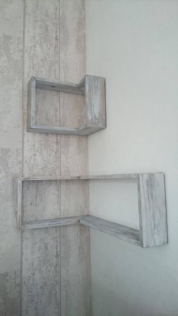 Diy Pallet Tv Stand And Wall Shelves 99 Pallets