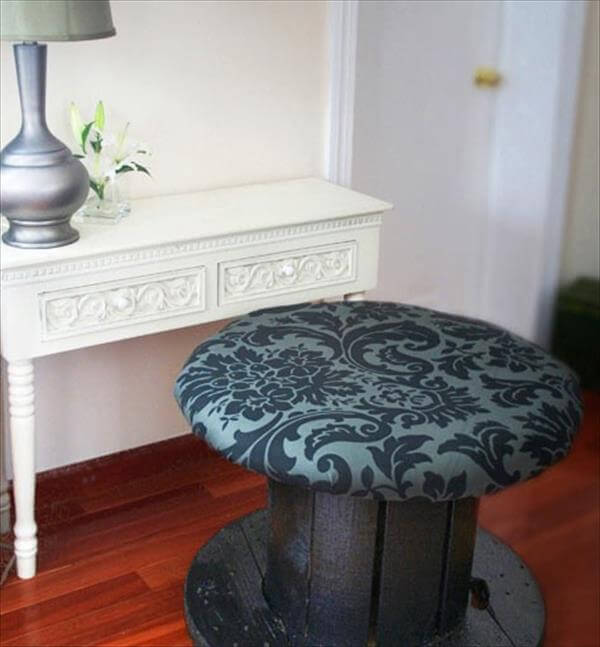 cable drum cushioned bench